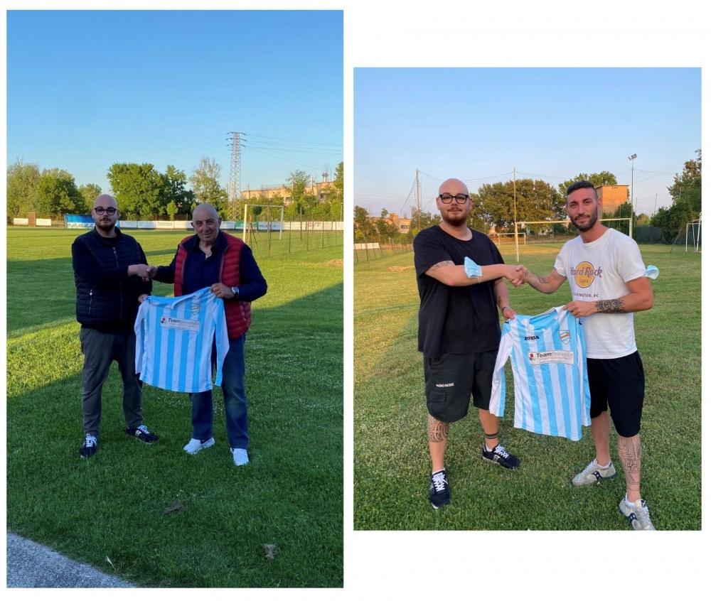 Alla sinistra mister Claudio Capioni e alla destra Ronny Mucciaccito